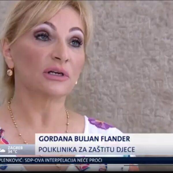 Gordana Buljan Flander daje izjavu u Saboru