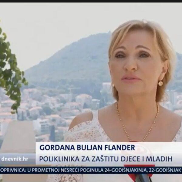 Screenshot Gordana Buljan Flander u dnevniku Nove TV